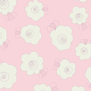 Fluffy Flowers-Pink