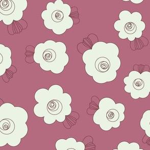 Fluffy Flowers-Wine