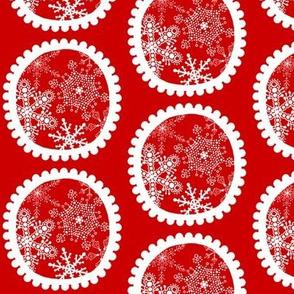 Christmas Howdy: Snowflake Circles