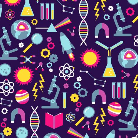 Science Studies (Dark Purple) fabric by robyriker on Spoonflower - custom fabric
