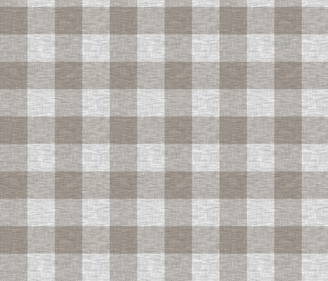 "1.75"" textured Plaid - Light Grey and Taupe fabric by sugarpinedesign on Spoonflower - custom fabric"