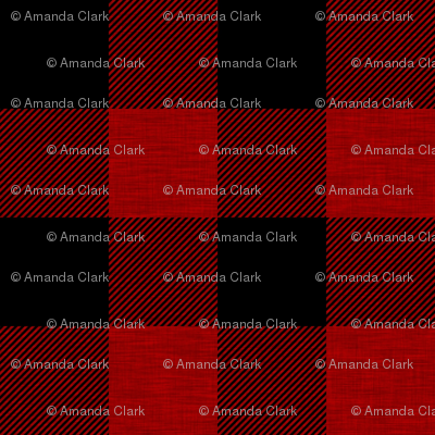 """2"""" textured plaid - red and black"""