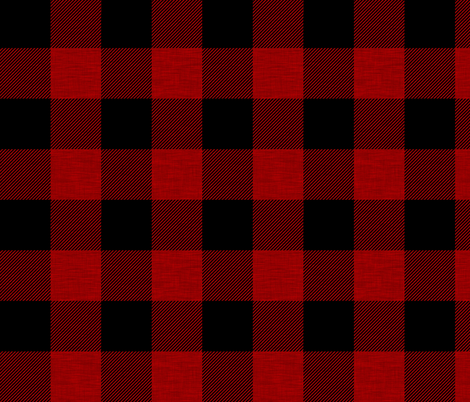 """2"""" textured plaid - red and black fabric by sugarpinedesign on Spoonflower - custom fabric"""