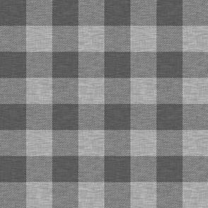 """2.5"""" textured plaid - dark grey"""