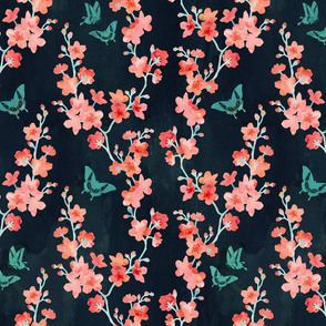Sakura butterflies bold
