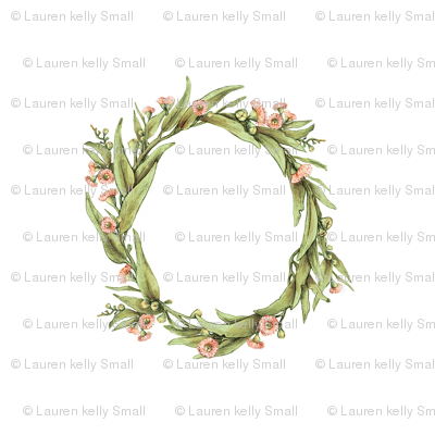 Wreath Eucalyptus, 7 inch wide, 4 inch apart