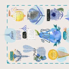 2018 Calendar, Fruit & Flora