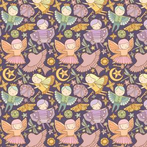 Night Fairies and Sky Jewels {Pastel Purple} - medium scale