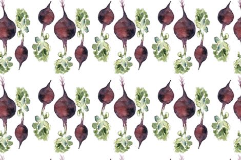 Beetroot family fabric by annahedeklint on Spoonflower - custom fabric