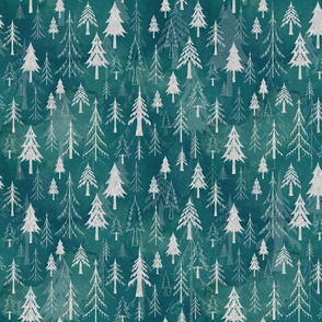 Christmas tree mix in arctic blues