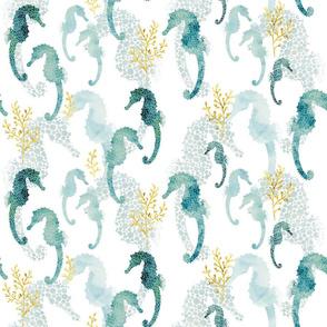 Pointillism Seahorse small