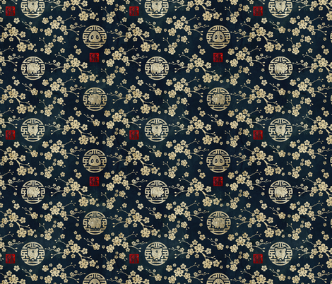 Chinese year of the pig small scale fabric by adenaj on Spoonflower - custom fabric