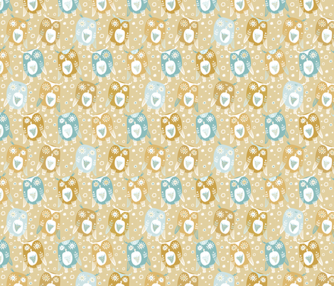 Christmas owls fabric by dariara on Spoonflower - custom fabric