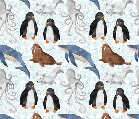 Arctic Animals fabric by taylor_bates_creative on Spoonflower - custom fabric