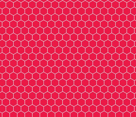 Honeycomb Cherry Tomato fabric by hazelrose on Spoonflower - custom fabric