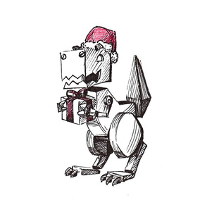 Robot Christmas Dinosaur