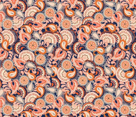 Fiesta Sangria - Peach fabric by christinelynnjohansen on Spoonflower - custom fabric