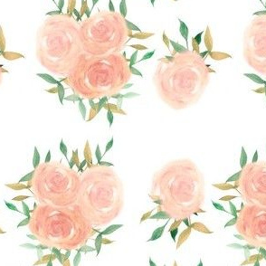 Blush watercolor rose rossettes