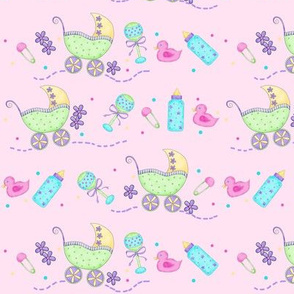 Baby Buggy Pink Small