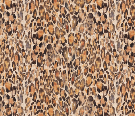 Le Parc Hide (sienna) fabric by nouveau_bohemian on Spoonflower - custom fabric