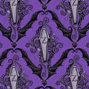 Brians Damask - royal purple