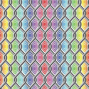 Chain Link Diamonds Rainbow 1