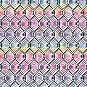 Chain Link Diamonds Rainbow 2