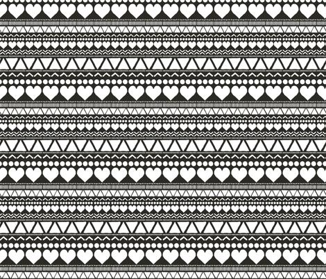Black Folk [BPC] fabric by onelittleprintshop on Spoonflower - custom fabric