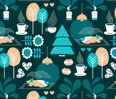 cozy night fabric by nanamira on Spoonflower - custom fabric
