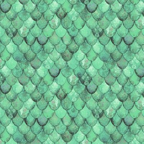 SMALL Pale Green Mermaid or Dragon Scales by Su_G