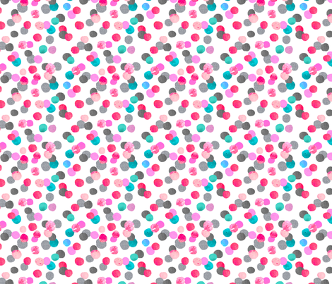 confetti dot with grey and teal fabric by karismithdesigns on Spoonflower - custom fabric
