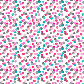 confetti dot with grey and teal