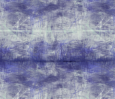 blue abstract landscape fabric by wren_leyland on Spoonflower - custom fabric