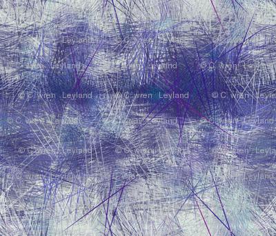 cobalt blue abstract landscape