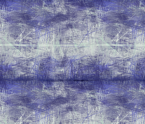 cobalt blue abstract landscape fabric by wren_leyland on Spoonflower - custom fabric