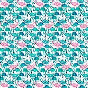 flamingo repeat teal! smallest scale