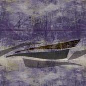 fishing boats plum brown