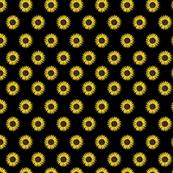 sunflower polka-dots black