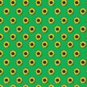sunflower polka-dots green
