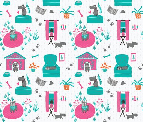 Doggie Hygge fabric by scarlette_soleil on Spoonflower - custom fabric
