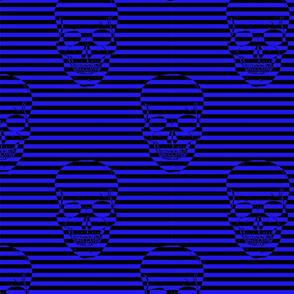 striped skulls blue
