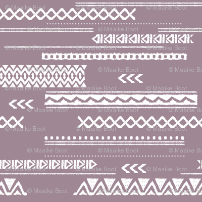 Modern aztec ethnic tribal patchwork indian summer abstract fabric violet Large