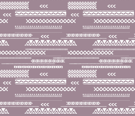 Modern aztec ethnic tribal patchwork indian summer abstract fabric violet Large fabric by littlesmilemakers on Spoonflower - custom fabric