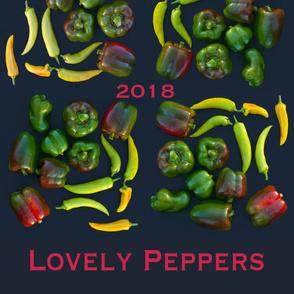 Tea Towel Lovely Peppers *