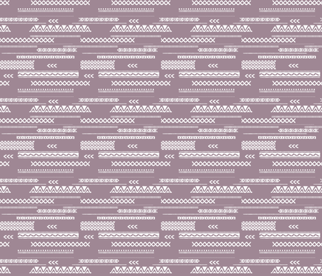 Modern aztec ethnic tribal patchwork indian summer abstract fabric violet SMALL fabric by littlesmilemakers on Spoonflower - custom fabric