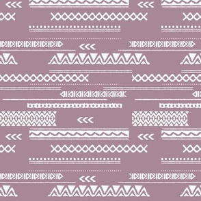 Modern aztec ethnic tribal patchwork indian summer abstract fabric violet SMALL