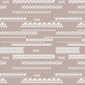 Modern aztec ethnic tribal patchwork indian summer abstract fabric beige Small