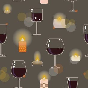hygge Wine and Candle light