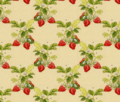strawberry plants fabric by hannafate on Spoonflower - custom fabric