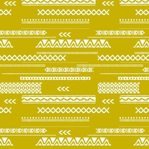 Modern aztec ethnic tribal patchwork indian summer abstract fabric Mustard yellow SMALL